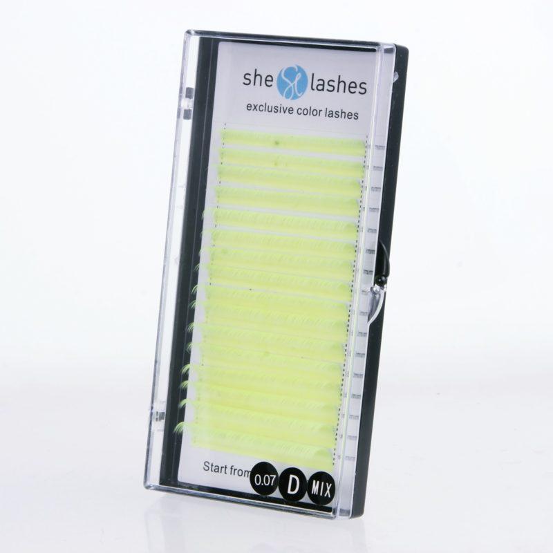 Rzęsy exclusive color lashes fluorescencyjne 0,07, mix długości