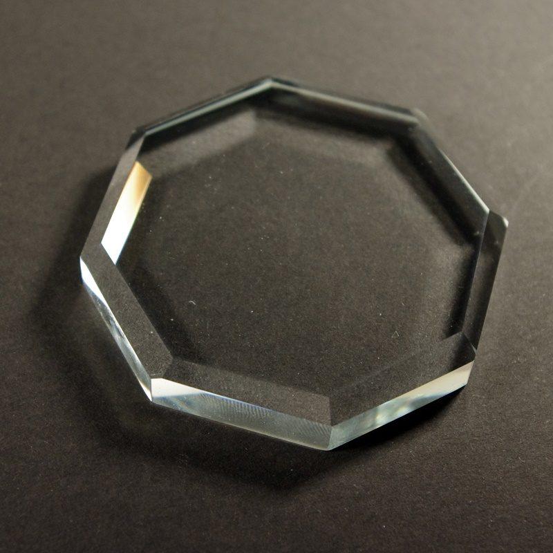 Szklana kryształowa podkładka na klej do rzęs